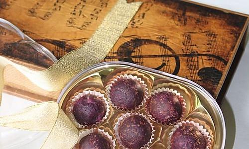 紫薯芝心丸子的做法