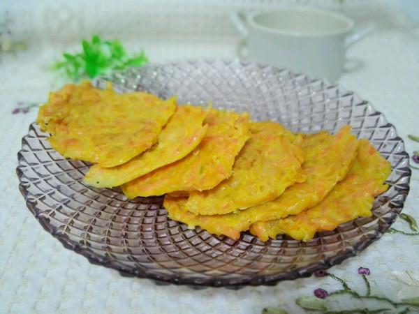 南瓜胡萝卜猪肝饼(防贫血)的做法