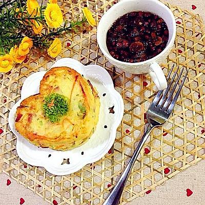 健康早餐土豆鸡蛋饼