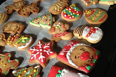 无黄油健康早餐饼干 圣诞糖霜饼干