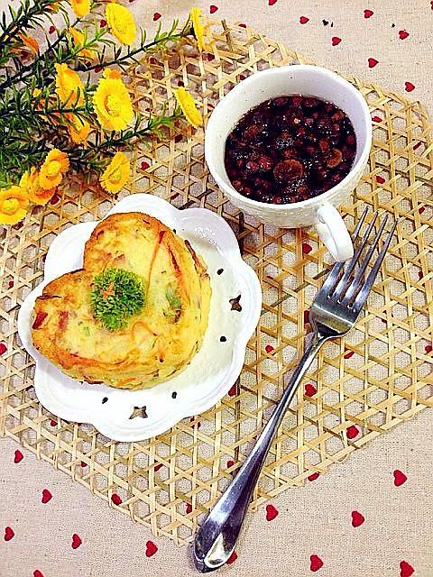 健康早餐土豆鸡蛋饼的做法