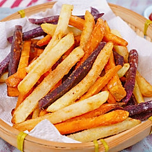 #夏日撩人滋味#三色薯条安排起来