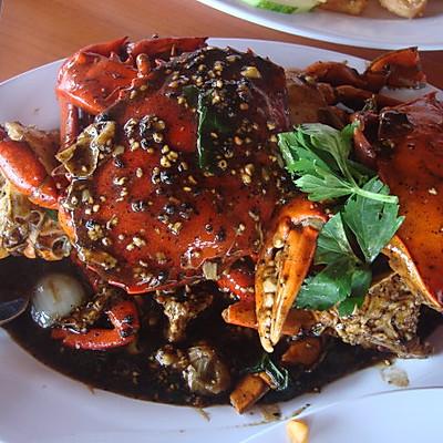 新加坡黑胡椒螃蟹(黑胡椒汁版)