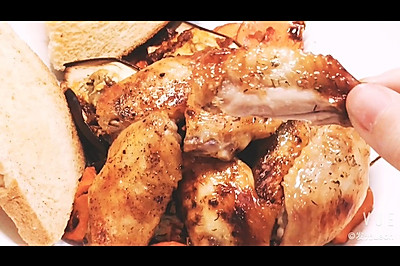 烤鸡翅和时蔬