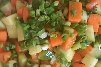 孕妇食谱,素炒黄瓜胡萝卜