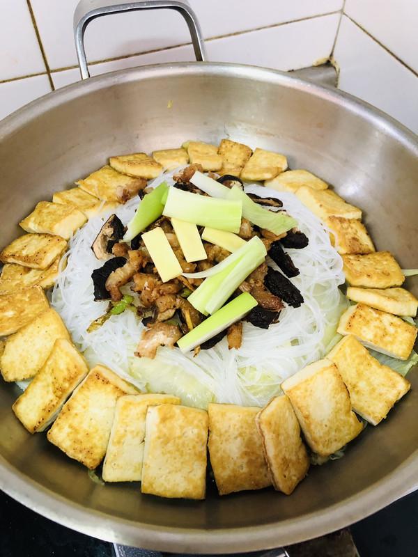 海米白菜豆腐煲的做法