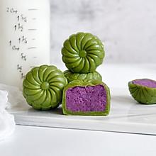 抹茶紫薯冰皮月饼