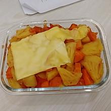 #做道好菜,自我宠爱!#微波炉版 香香甜甜就是芝士焗菠萝饭