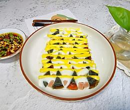 #相聚组个局#四色蒸蛋,颜值和美味兼具的一道年夜饭!的做法