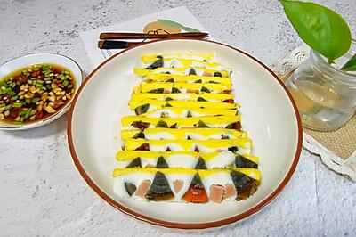 四色蒸蛋,颜值和美味兼具的一道年夜饭!