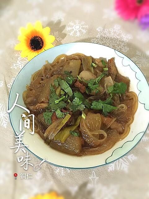 东瓜猪肉炖粉条的做法