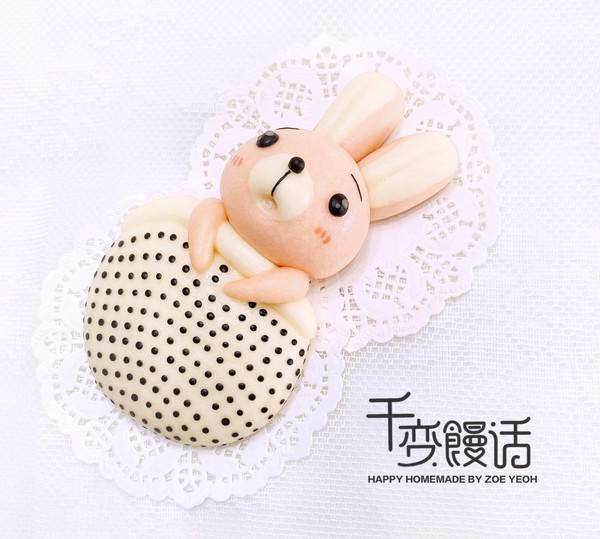 可爱造型馒头 赖床的小兔子的做法