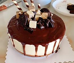 巧克力淋面酸奶慕斯蛋糕的做法