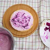 粉紫色的恋人--红心火龙果奶油蛋糕的做法图解5