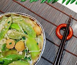 【葱油元贝丝瓜】减肥减脂❤️蜜桃爱营养师私厨的做法
