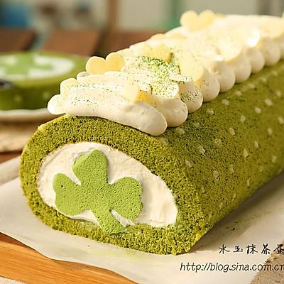~水玉抹茶夹心蛋糕卷~一抹清新绿