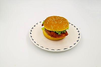 红色鸡排汉堡,健康又美味
