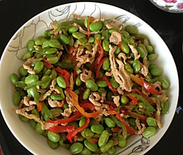 胡椒毛豆炒肉丝的做法