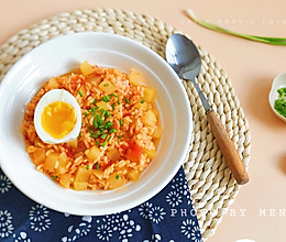 剩饭怎么吃丨番茄红烩土豆饭#今天吃什么#的做法