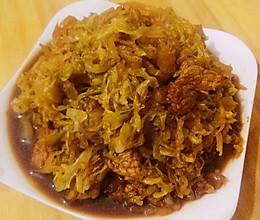 东北酸菜炒肉的做法