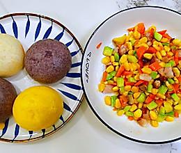 #我们约饭吧#时蔬杂粮包—窝窝头配时蔬,色香味美,营养丰富~的做法