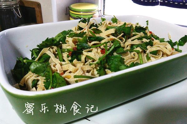 快手菜——凉拌豆腐皮的做法