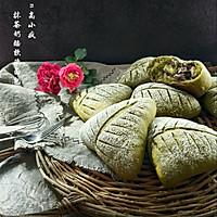 抹茶奶酪软欧面包#樱花味道#的做法图解15