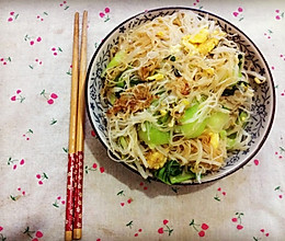 素食主义—家常炒米面的做法