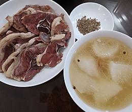萝卜羊肉汤 一羊两吃的做法