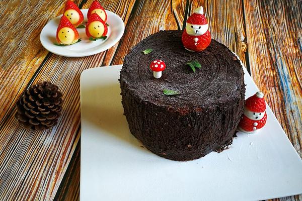 圣诞树桩蛋糕、劈柴蛋糕的做法