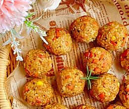 #牛气冲天#一口一个剩米饭神仙吃法日式烤饭团的做法