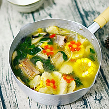 猴头菇鲜味玉米排骨汤