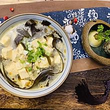 排毒减肥去脂:海带豆腐汤#餐桌上的春日限定#