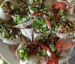 蒜蓉鼓汁蒸螃蟹的做法