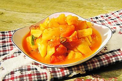 菠萝炒番茄 #植物蛋+美味尝鲜记#