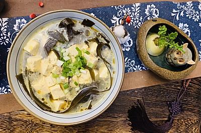 排毒减肥去脂:海带豆腐汤