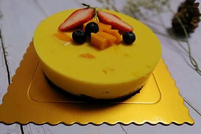 免烤箱芒果慕斯蛋糕