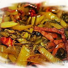 虾干火腿丝炒酸菜