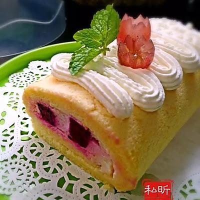 果肉蛋糕卷