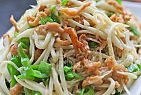 茭白青椒炒肉丝的做法