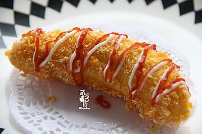 【最爱美食】外皮很香酥内里鲜嫩の黄金脆皮香蕉#浪漫樱花季#