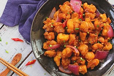 美国人爱的左宗棠鸡,味道确实不错!
