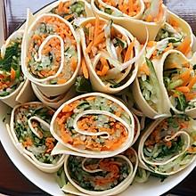 快手减脂营养菜:豆腐皮杂菜卷