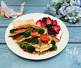 杂蔬海鲜卷饼,餐桌上的田园 #美味烤箱菜,就等你来做!#的做法