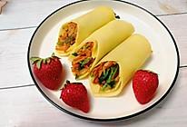 #换着花样吃早餐#鸡蛋饼卷时蔬,营养健康的做法