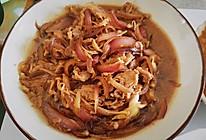 紫葱头丝炒肥牛金针菇的做法