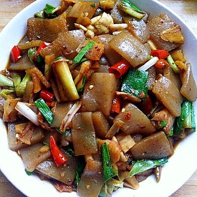 酸辣魔芋豆腐