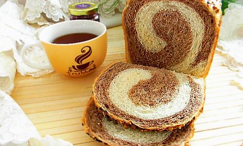 面包机版双色土司#东菱魔法云面包机#的做法