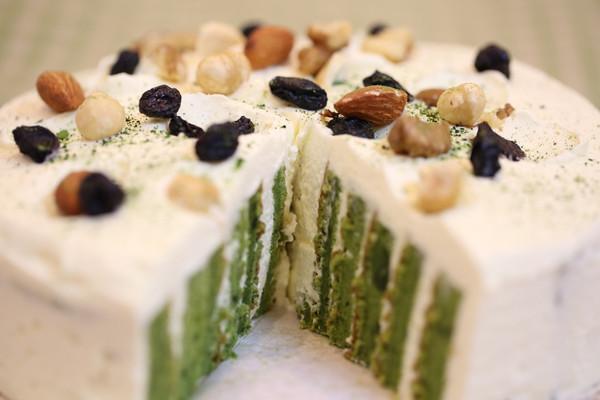 抹茶漩涡蛋糕的做法