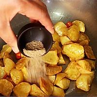 #花10分钟,做一道菜!#香辣椒香薯角的做法图解9